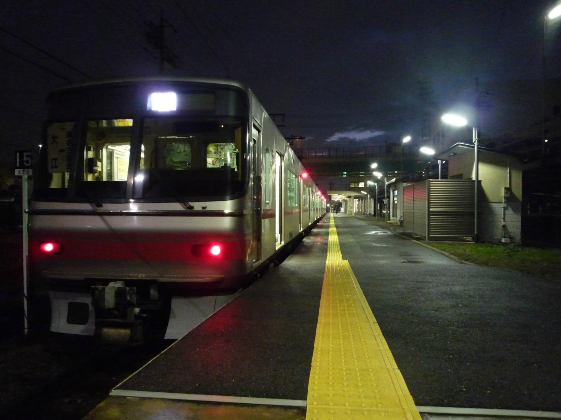 名鉄築港線の終電に乗ってみた+...