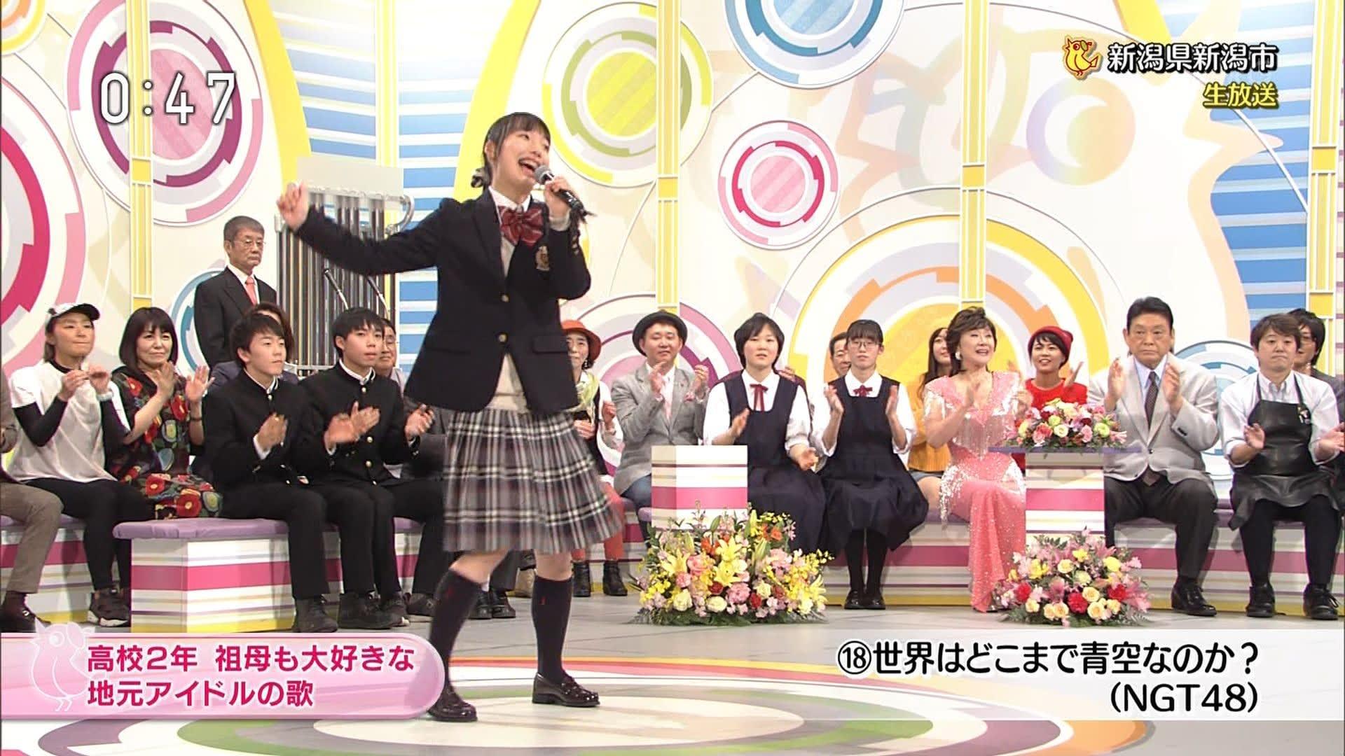 【画像】 NHK『のど自慢』に出演した新潟の女子高生、美少女すぎると話題wwwⅴww