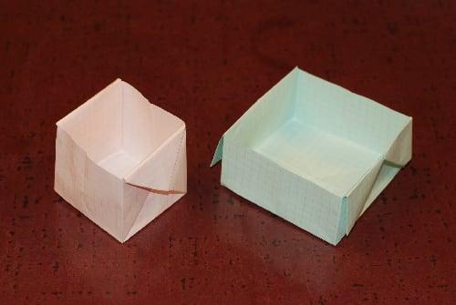 紙 折り紙 新聞紙 折り紙 箱 : ... しっかりとした箱になります