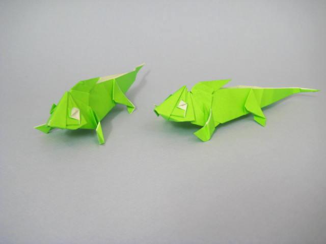 簡単 折り紙 : 折り紙犬折り方立体 : divulgando.net
