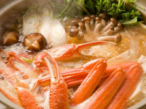浜坂産松葉蟹の蟹すき鍋