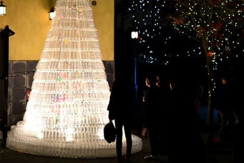有馬温泉のクリスマスツリー