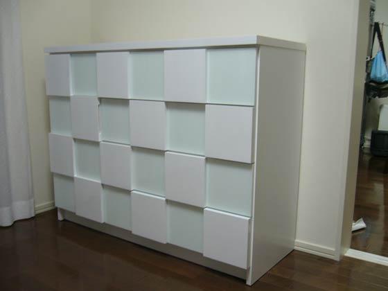 デザインキャビネットを特注で製作 このようにオリジナル家具になりました