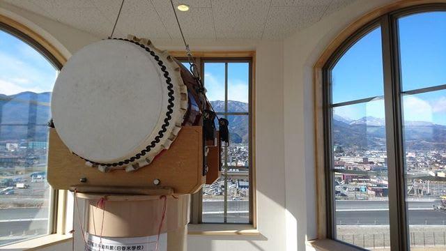 展望台の太鼓