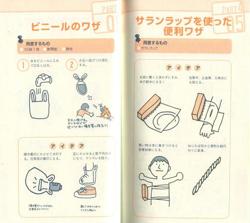 災害時マニュアル書籍の挿絵イラスト1