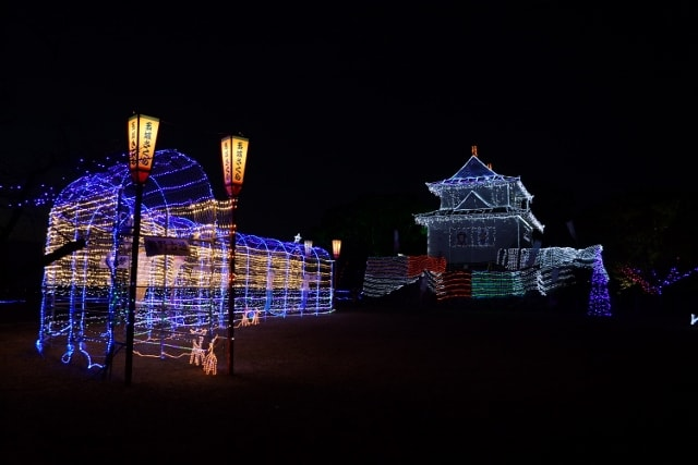 田丸城のイルミネーション見てきました〜(^^)