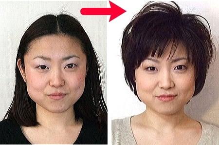 似合う髪型 大きい顔似合う髪型 : こちらの例は、少し短いのです ...