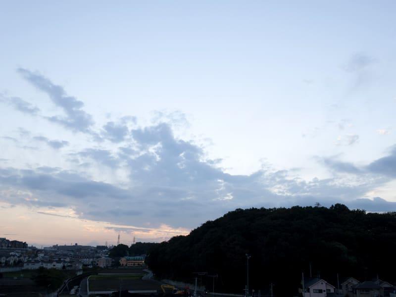 10月25日 根岸台の夕陽