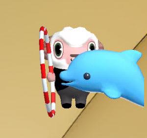 イルカが見事に輪くぐり