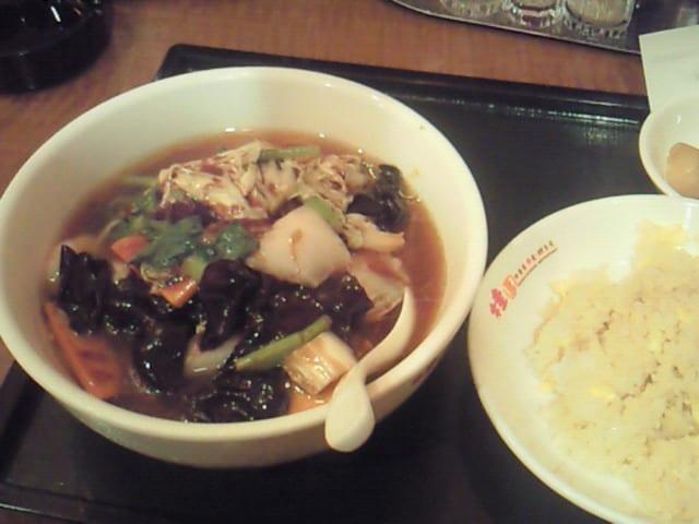 広東麺と半炒飯