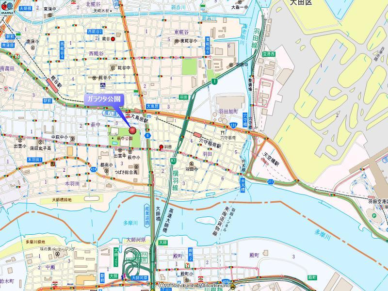 ガラクタ公園の地図
