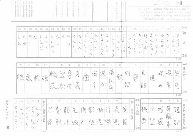 過去 漢 検 問 級 3
