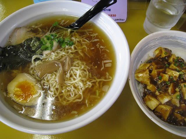 しょうゆラーメン+麻婆丼