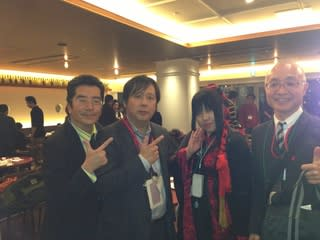 島田秀平くん、筆者、物まね芸人のレイバー佐藤さん、稲川淳二御大の四番弟...