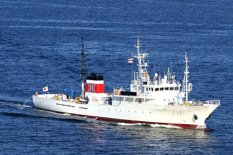 「たつまい」がメザシ(4隻)で炎上してる画像を見ましたが 炎上したのは... 水産庁 漁業取締船