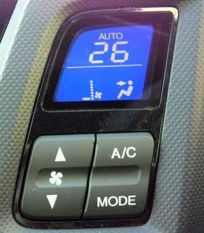 アイドルストップ作動でエアコンが送風モードに切り替わる
