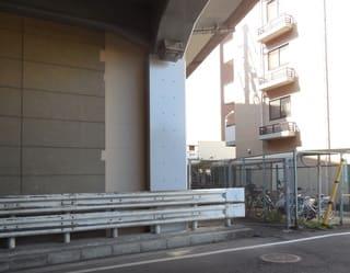 高架橋の耐震補強箇所