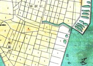 かつて川下地区には広大な農地が広がっていた(車開作・中津開作)