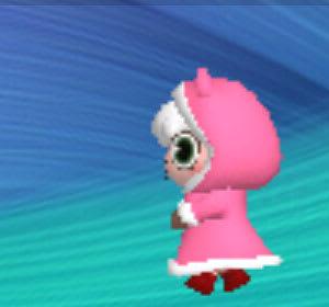 メイドのメイちゃん しゃべってコース 秋冬ver.はピンクのポンチョ
