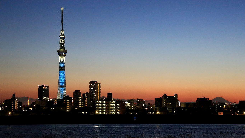 東京タワー スカイツリー 富士山のコラボ 夕景 きじとら の 散歩写真