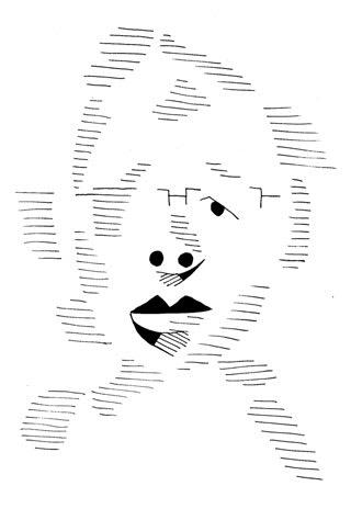 自画像の似顔絵