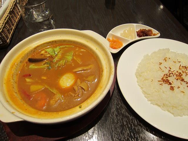 10種野菜とチキンのスープカリー