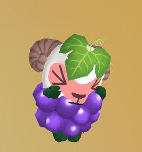 葡萄スタイルで泣く、ひつじのしつじくん