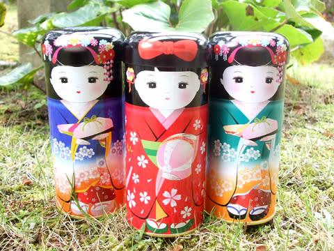 舞妓の人形缶