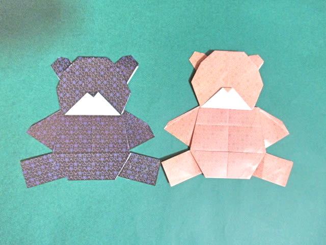 クリスマス 折り紙 折り紙 くま 折り方 : blog.goo.ne.jp
