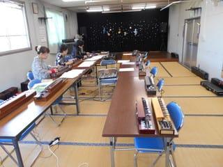 大正琴の練習風景