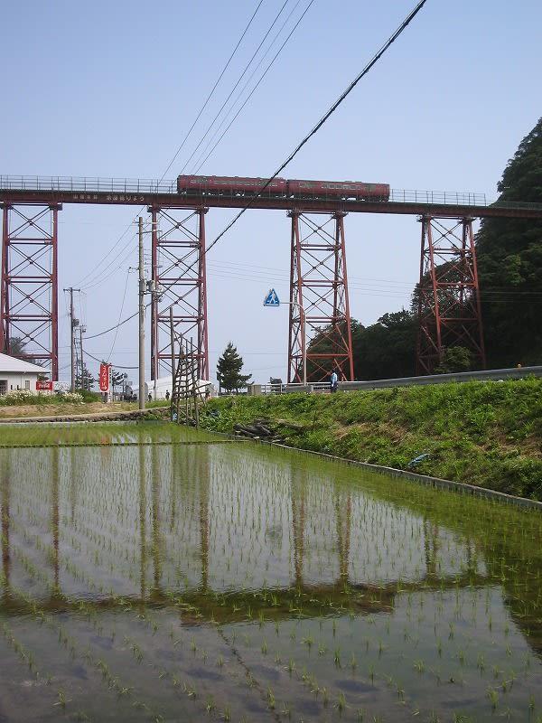 安全祈願祭の日の餘部鉄橋