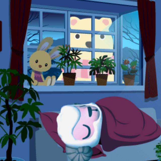 午前1時台は窓からクマが覗き込む