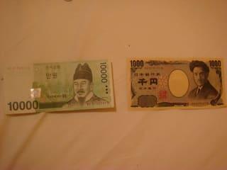 paangelのブログ-115 韓国お金 1万ウォンのような日本お金 1千円 韓国の人々は小銭は