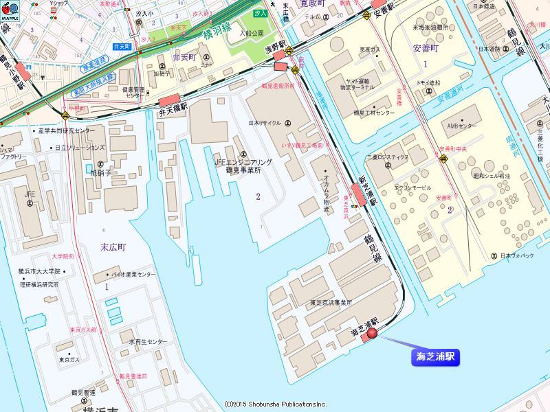 海芝浦駅の地図