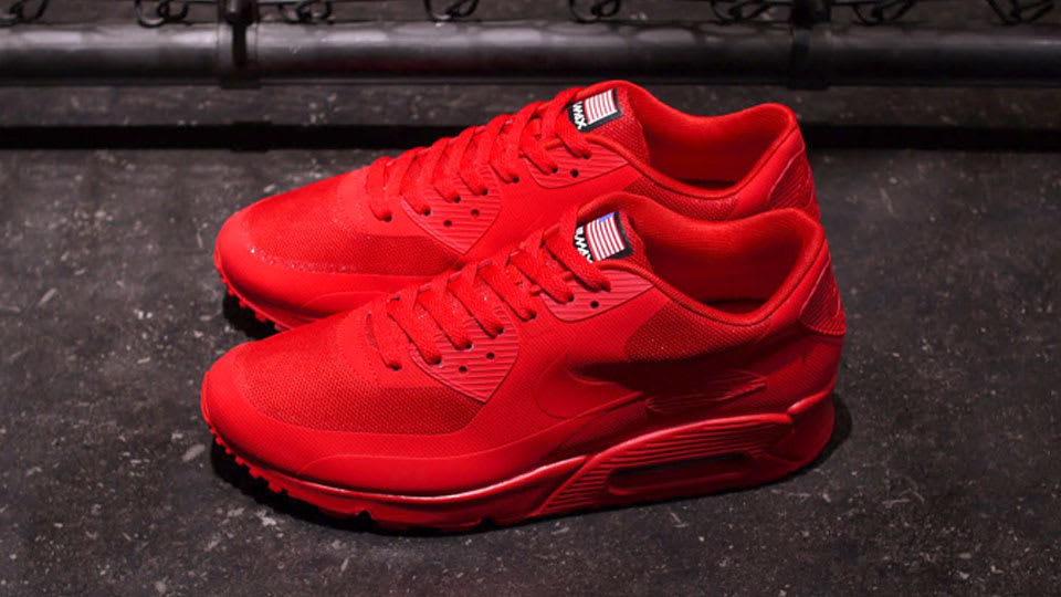all red air max 90 hyperfuse