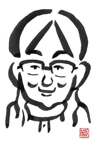 唐橋ユミの似顔絵