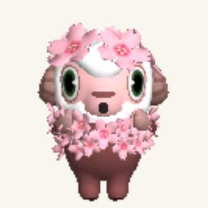 プリインストールのひつじのしつじくんは土日に桜のコスプレ