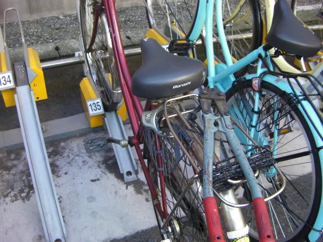 自転車の鍵を壊してくれ!と ...