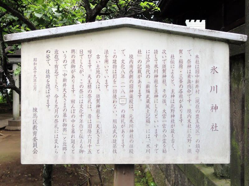 06月20日 氷川神社看板