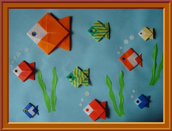 クリスマス 折り紙:折り紙 魚-hagifood.com