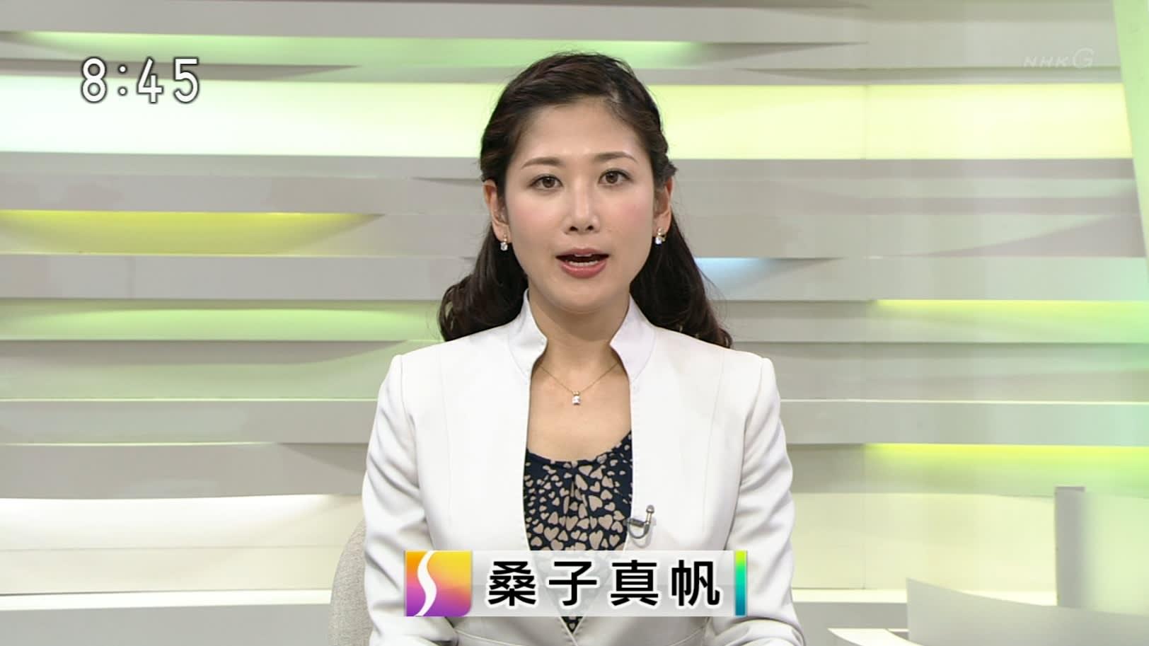 太巻きの桑子真帆アナ