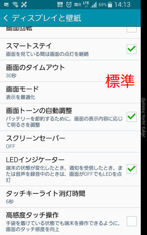 GALAXY Note Edgeの標準フォント