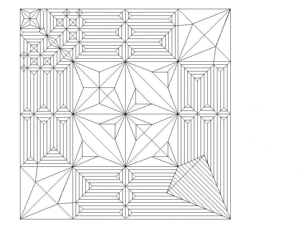 すべての折り紙 ドラゴンの折り紙 : 平行な直線が並んでいるところ ...