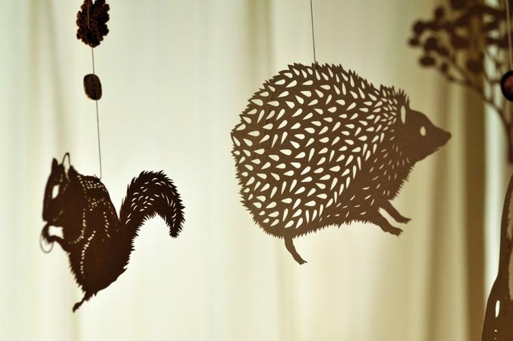 すべての折り紙 折り紙 切り絵 動物 : モビールの作り方。紙と紐だけ ...
