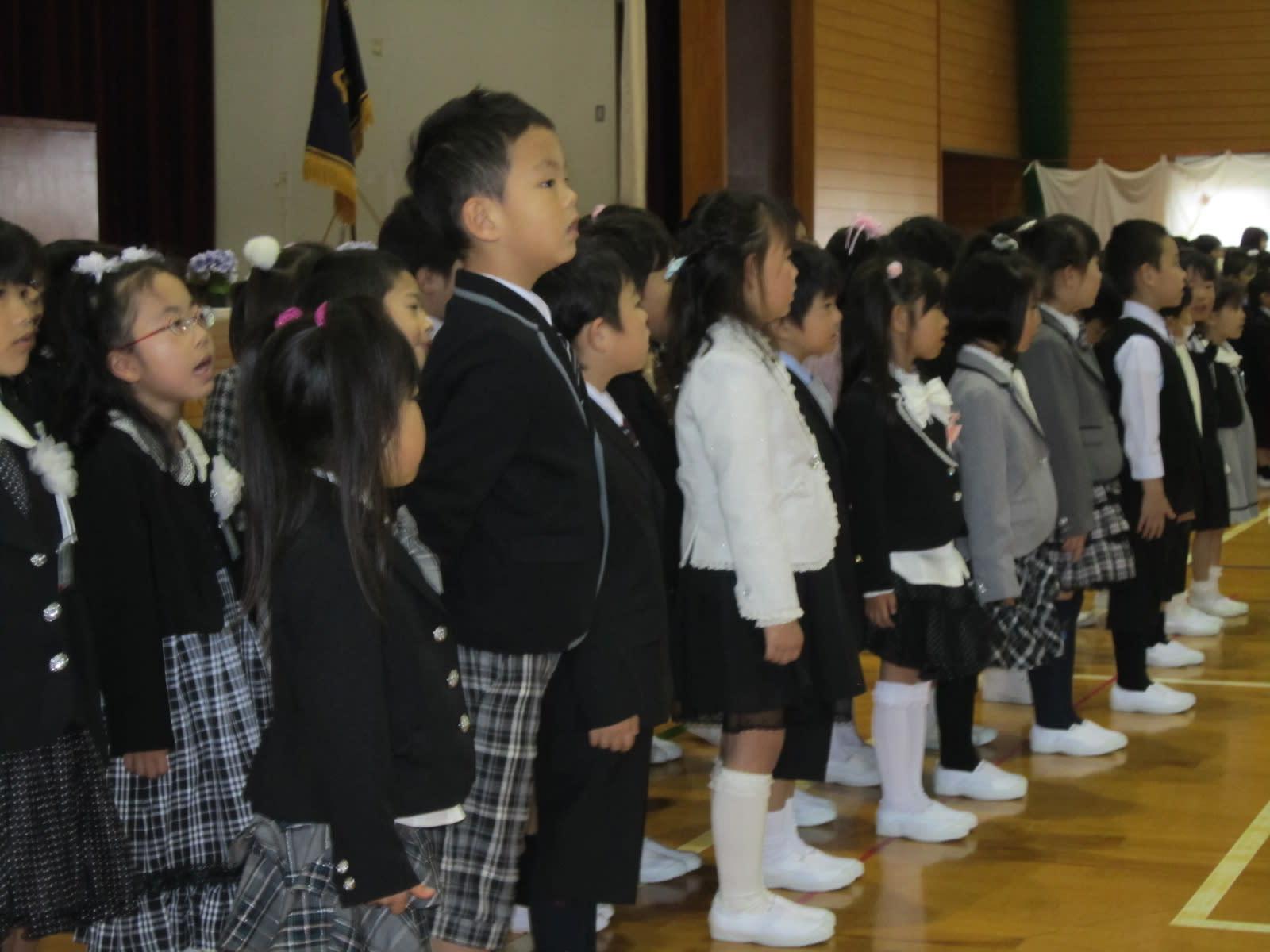 鳥取市立美保南小学校の入学式 -...