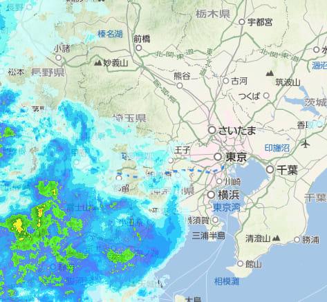 千葉市緑区 雨雲レーダー
