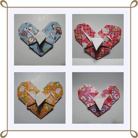 折り紙の:ハートの折り紙の折り方-divulgando.net