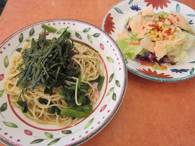 ほうれん草のスパゲティランチ