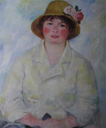 ピエール=オーギュスト・ルノワール「ルノワール夫人の肖像」