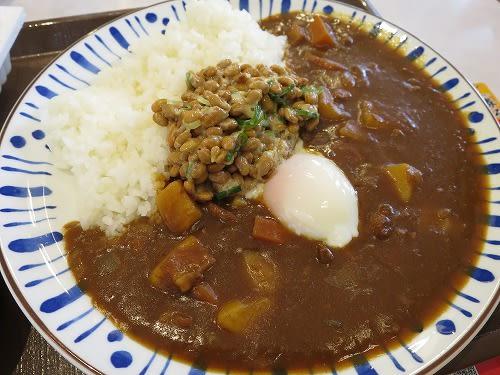 おんたまカレー+納豆